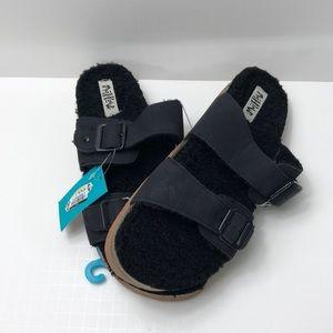 Mad Love Black Buckle Sandal brand new